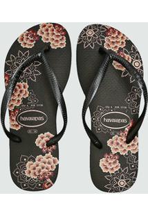 Chinelo Feminino Estampa Floral Slim Havaianas 2191