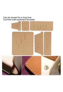 Carteira De Acrílico Transparente Modelo De Padrão Manual De Carteira Diy Couro Craft For Long Wallet