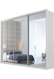 Guarda Roupa Ravena Top 3 Portas Espelhadas Branco
