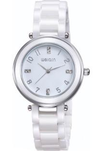 Relógio Weiqin Analógico W3210 Branco
