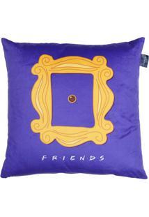 Capa De Almofada Friendsâ®- Roxa & Amarela- 45X45Cm