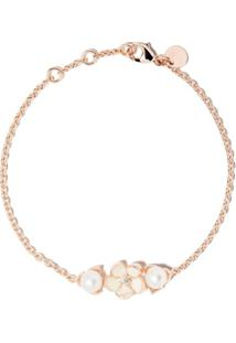 Shaun Leane Cherry Blossom Single Diamond And Pearl Bracelet - Rose Gold Vermeil