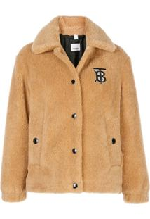 Burberry Monogram Motif Fleece Jacket - Neutro