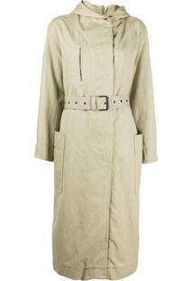 Isabel Marant Étoile Trench Coat Rafael Oversized - Verde