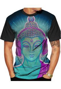Camiseta Di Nuevo Buda Psicodélico Dj Color Preta