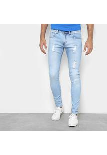 Calça Jeans Preston Delave Destroyed Masculina - Masculino