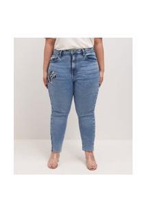 Calça Jeans Skinny Minnie Curve & Plus Size | Ashua Curve E Plus Size | Azul | 46