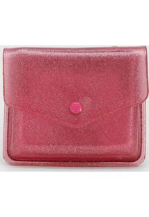 Carteira Petite Jolie Glitter Rosa - Kanui