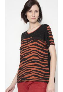 Blusa Zebra- Preta & Laranja- Shirley Dantasshirley Dantas