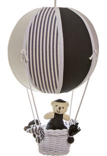 Lustre Balão Bolinha Urso Bebê Infantil Menino Potinho De Mel Marinho - Kanui