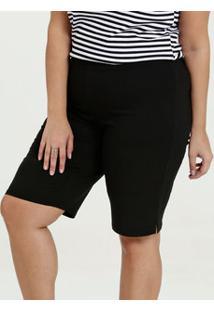 Bermuda Feminina Bengaline Textura Plus Size Marisa