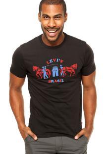 Camiseta Levis Brasil Preta