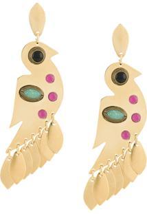 Isabel Marant Birdy Stud-Embellished Earrings - Dourado