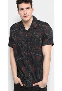 Camisa Okdok Rosas E Arame Masculina - Masculino
