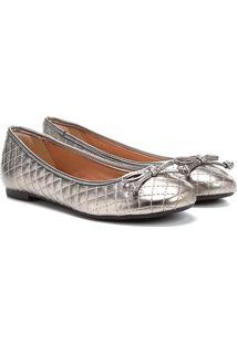 Sapatilha Shoestock Matelassê Feminina - Feminino-Chumbo