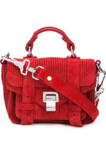 Proenza Schouler Bolsa Ps1 Pequena De Camurça - Vermelho