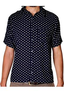Camisa Andy Roll Clothing Blur Poa Azul