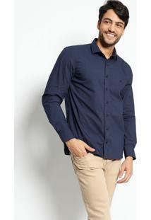 Camisa Slim Fit Lisa - Azul Marinhovip Reserva