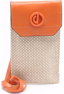 Bolsa Shoulder Bag Palha Laranja Tangerina