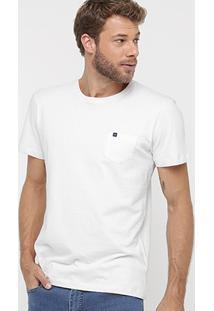 Camiseta Richards Básica Estonada Bolso - Masculino