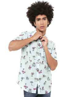 Camisa Billabong Reta Sundays Estampada Verde
