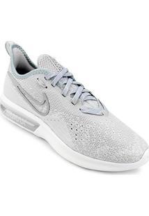 Tênis Nike Air Max Sequent 4 Feminino - Feminino-Cinza+Branco