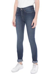 ... Calça Jeans Calvin Klein Jeans Skinny Pespontos Azul c3a9b60ab69