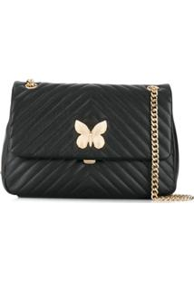 Twin-Set Quilted Shoulder Bag - Preto
