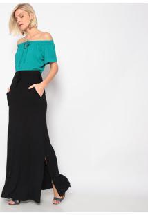 Blusa Ciganinha- Verde- Vittrivittri