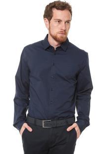 Camisa Colcci Reta Logo Azul-Marinho