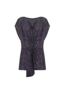 Vestido Curto Glitter - Preto
