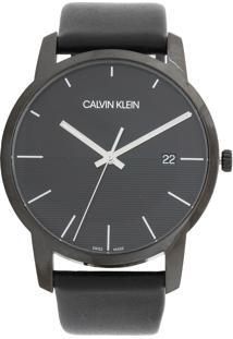 7ca91249bc022 Dafiti. Relógio Analógico De Grife Masculino Preto Aço Inox Couro Calvin  Klein ...