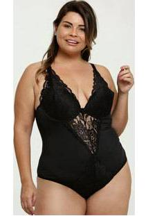 Body Feminino Sensual Recorte Plus Size Marisa