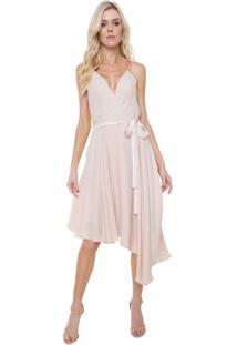 6b5257554 R$ 339,99. Dafiti Vestido Lança Perfume Midi Assimétrico Rosa