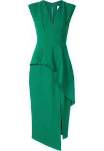 Ginger & Smart Vestido Peplum Elixer - Verde