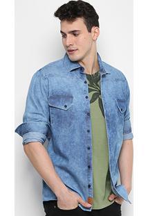 Camisa Forum Marmorizada Masculina - Masculino-Jeans