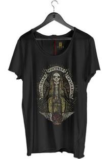 Camiseta Corte À Fio Joss Santo Skull Masculina - Masculino