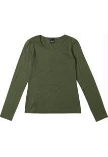 Blusa Verde Lisa Manga Longa