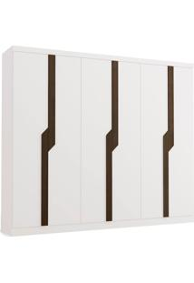 Roupeiro 6 Portas E 3 Gavetas Branco/Jac