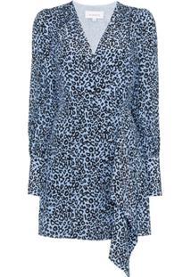 Les Rêveries Vestido Envelope Animal Print - Azul