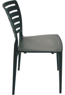 Cadeira Sofia Encosto Vazado Sem Braço Horizontal Preta Tramontina