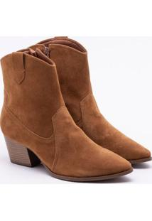 Ankle Boot Bebecê Camurça Camel 34
