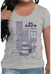 Camiseta Feminina El Chavo Cinza Geek10 - Cinza