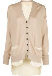 Uma Wang Buttoned Fine Knit Cardigan - Neutro