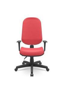 Cadeira Office Operativa Plus Presidente Vermelho 93Cm - 62727 Vermelho