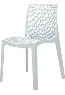 Cadeira Gruver Em Polipropileno Cor Branco - 44965 Sun House