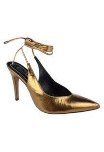Scarpin Oscar (Osc) Metallic Crystal Gold Feminino