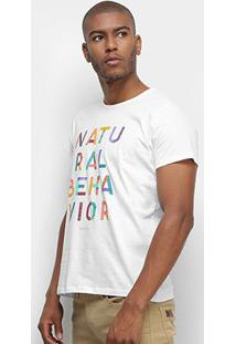 Camiseta Colcci Estampada Manga Curta Masculina - Masculino-Branco
