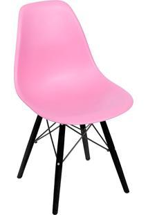 Cadeira Com Base Preta 1102-Or Design - Rosa