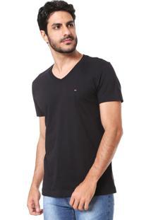 Camiseta Tommy Hilfiger Essential Preta